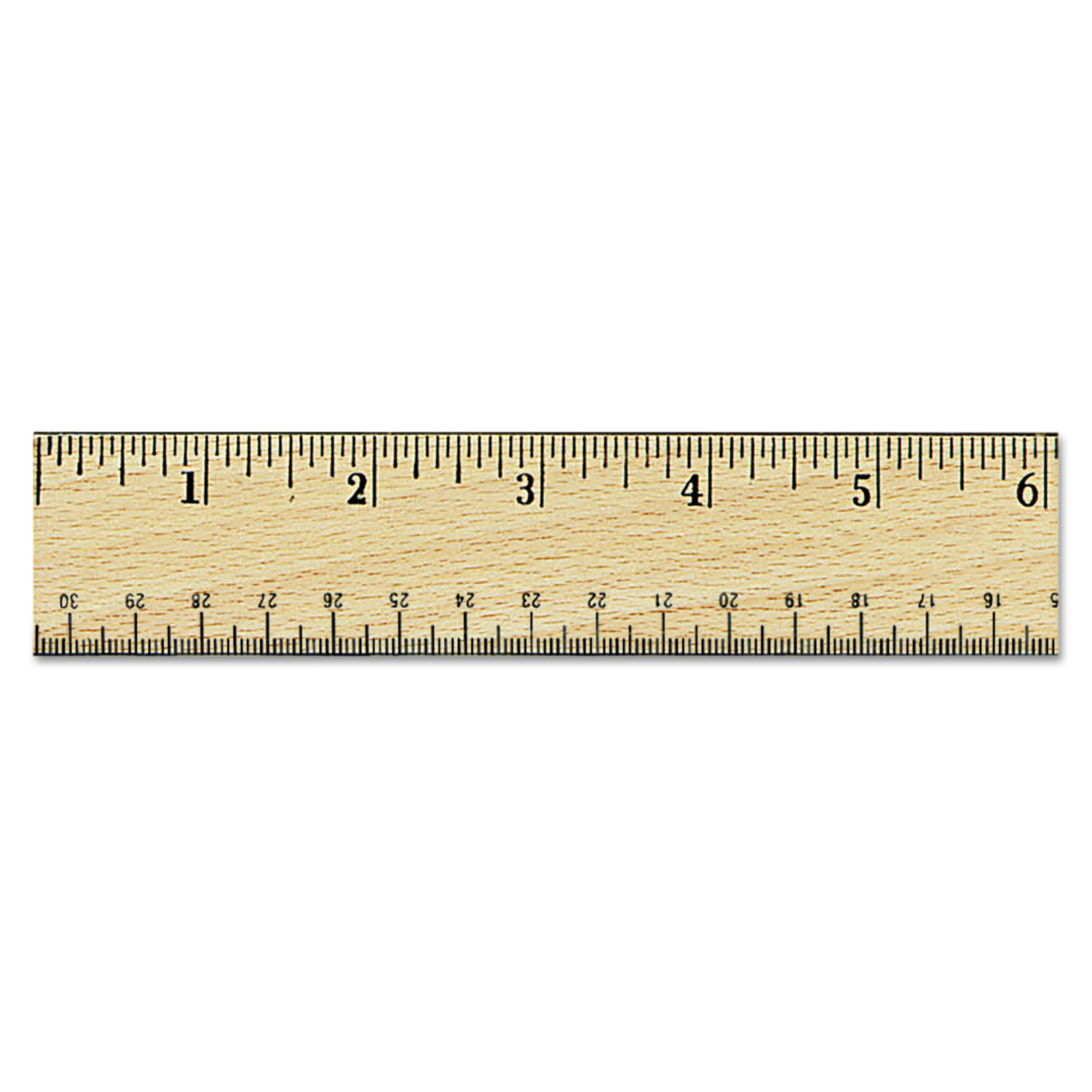 flat wood ruler wdouble metal edge by universal174 unv59021