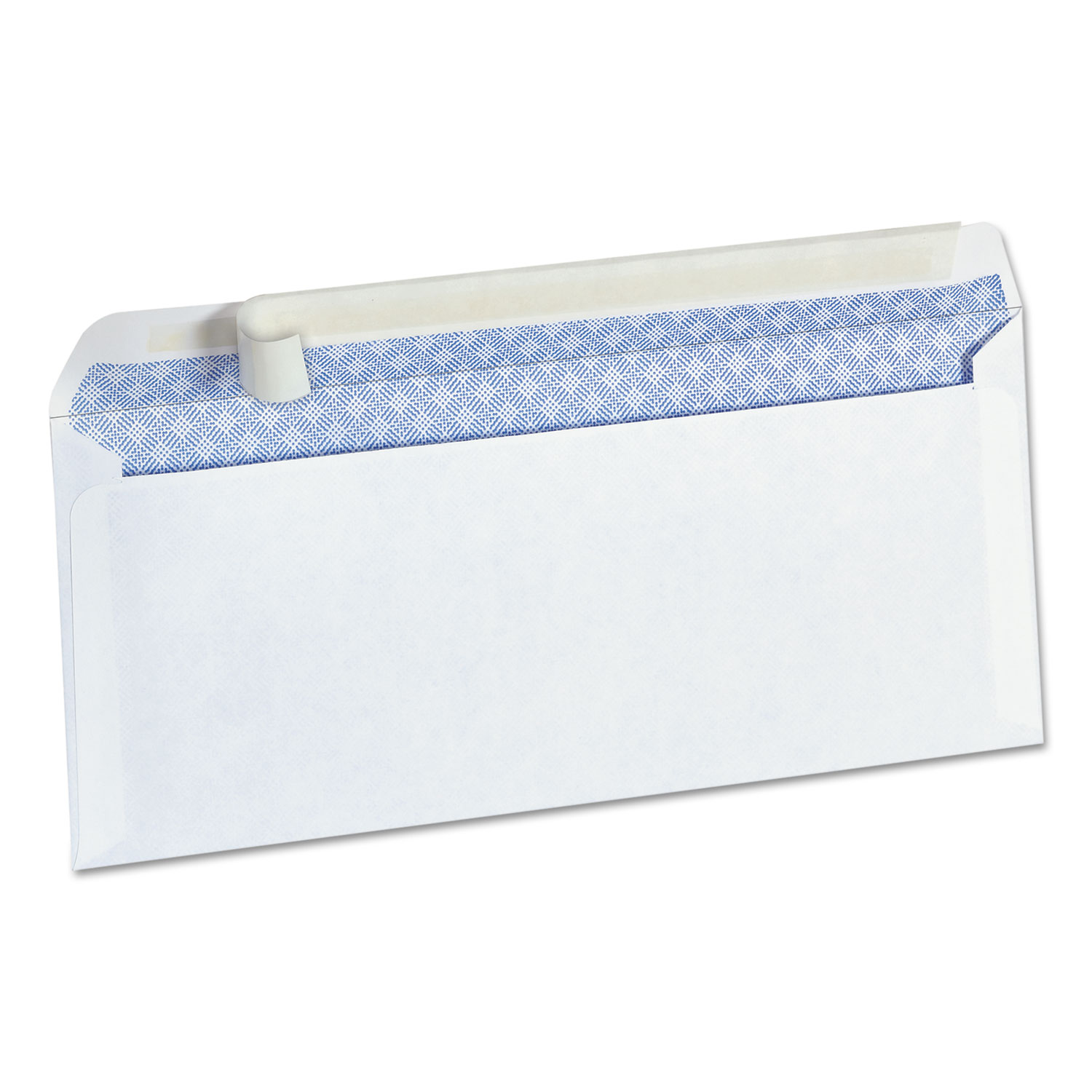 Peel Seal Strip Business Envelope, #10, Square Flap, Self-Adhesive Closure, 4.13 x 9.5, White, 100/Box