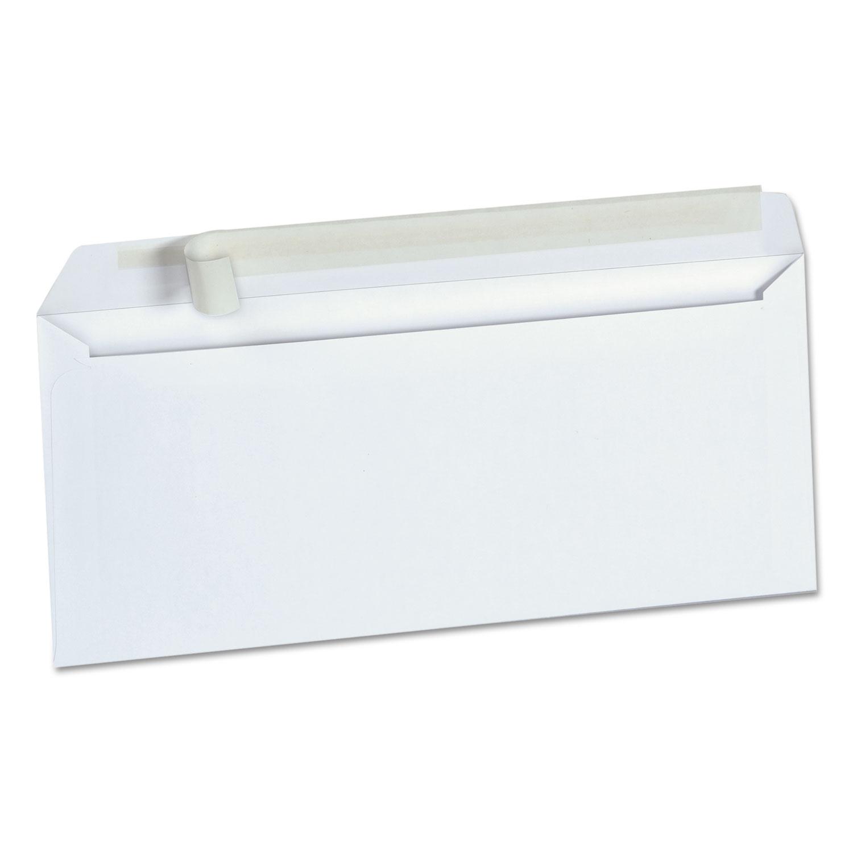 Peel Seal Strip Business Envelope, #10, Square Flap, Self-Adhesive Closure, 4.13 x 9.5, White, 500/Box