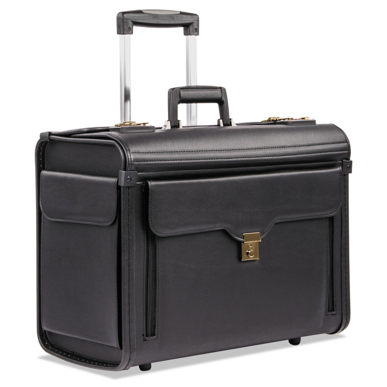 Catalog Case on Wheels, Koskin, 19 x 9 x 15-1/2, Black