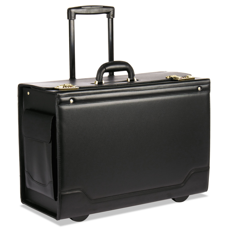 Rolling Catalog Case, 21 3/4 x 15 1/2 x 9 3/4, Black