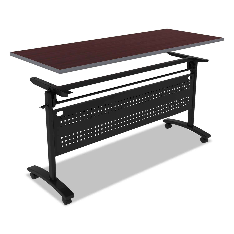 terrace rh office tables maple veneer allsteel table furniture r curved center training
