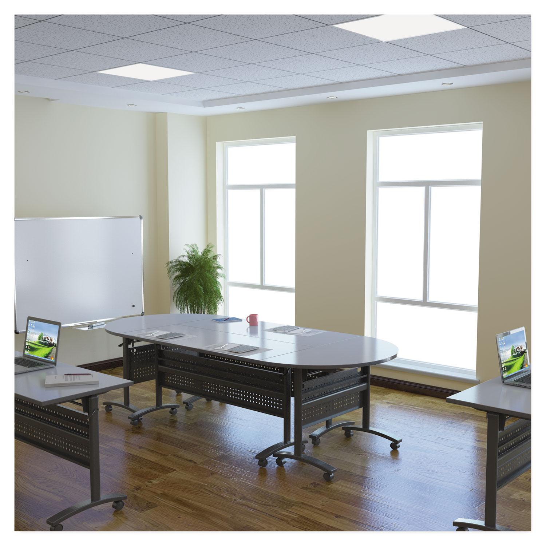 Alera Valencia Flip Training Table Base, Modesty Panel, 58w X 19 3/4d, Black