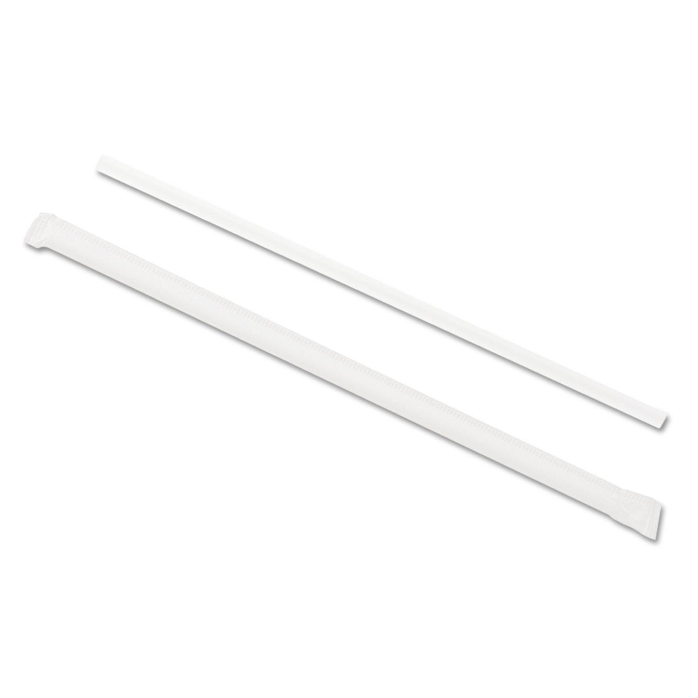 Wrapped Jumbo Straws, 7 3/4″, Translucent, 24/Carton