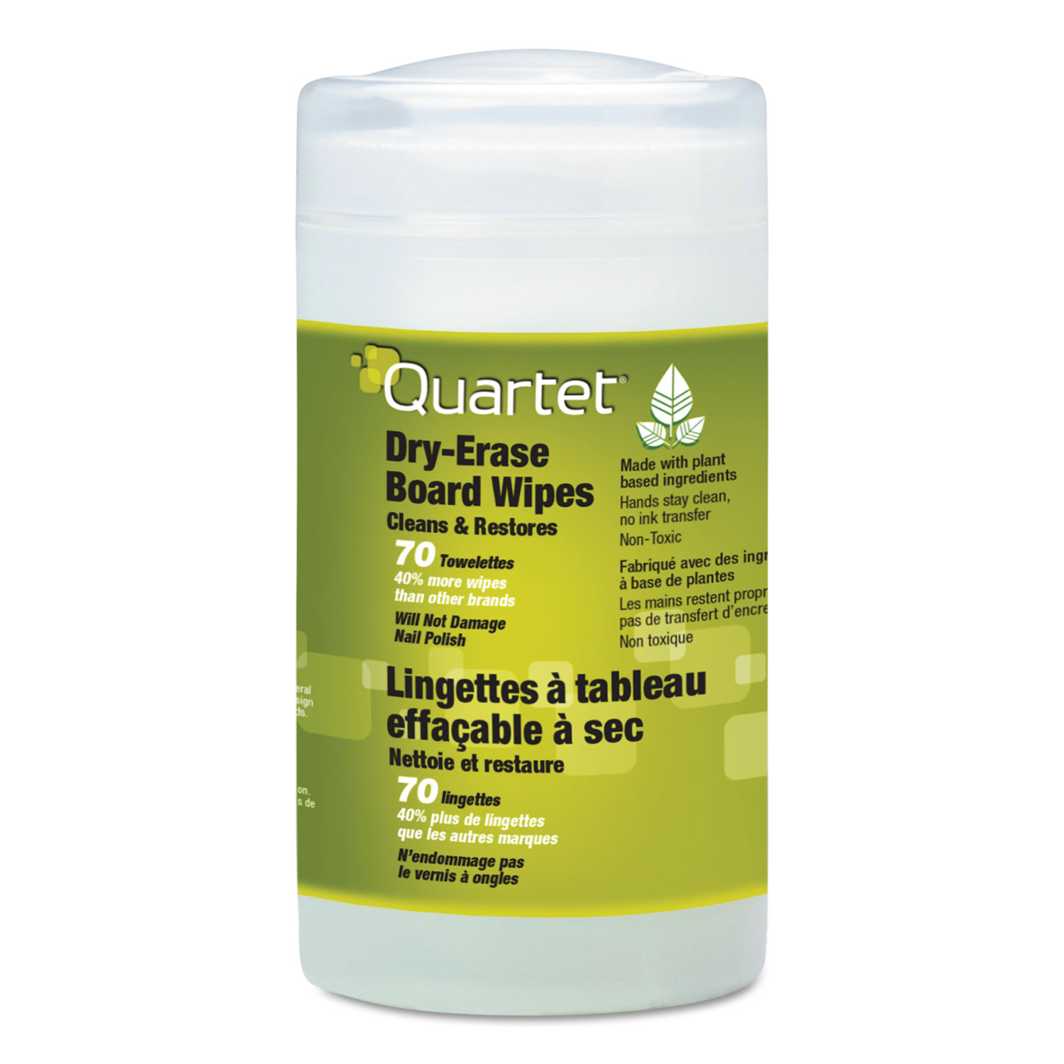 Board Wipes Dry Erase Cleaning Wipes by Quartet® QRT52180032 ...