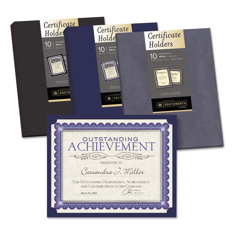 certificate holder southworth holders linen pack document
