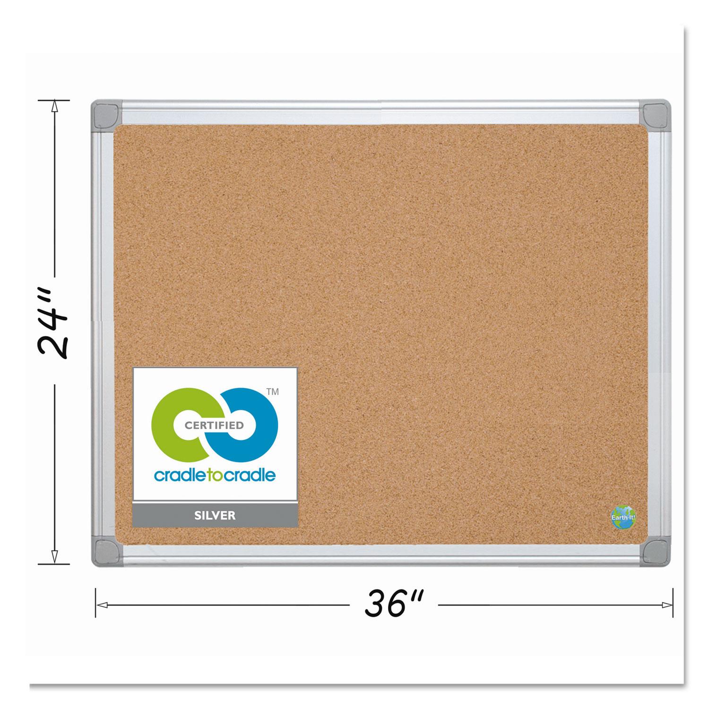 Earth Cork Board, 24 x 36, Aluminum Frame