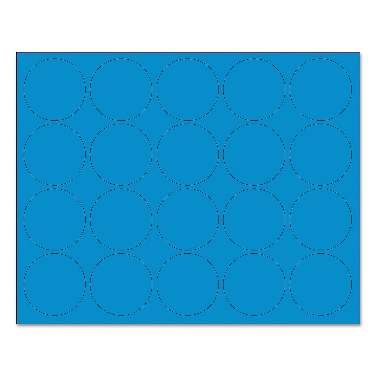 """Interchangeable Magnetic Board Accessories, Circles, Blue, 3/4"""", 20/Pack"""