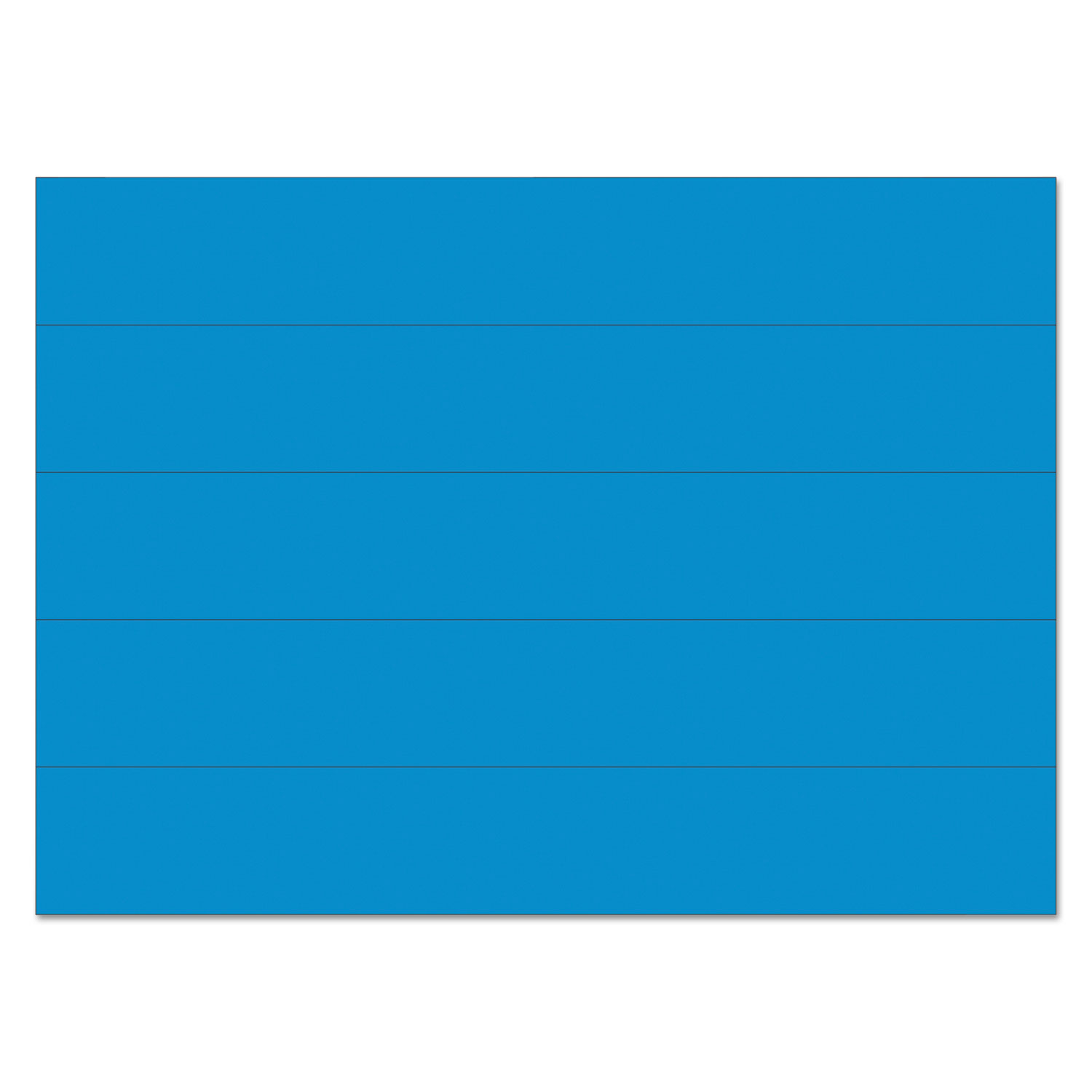 """Dry Erase Magnetic Tape Strips, Blue, 6"""" x 7/8"""", 25/Pack"""