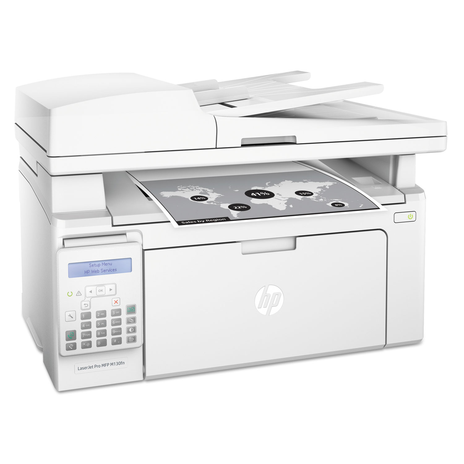 LaserJet Pro MFP M130fn Multifunction Laser Printer, Copy/Fax/Print/Scan