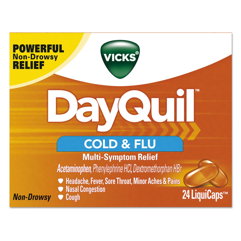 DayQuil Cold & Flu LiquiCaps, 24/Box, 24 Box/Carton