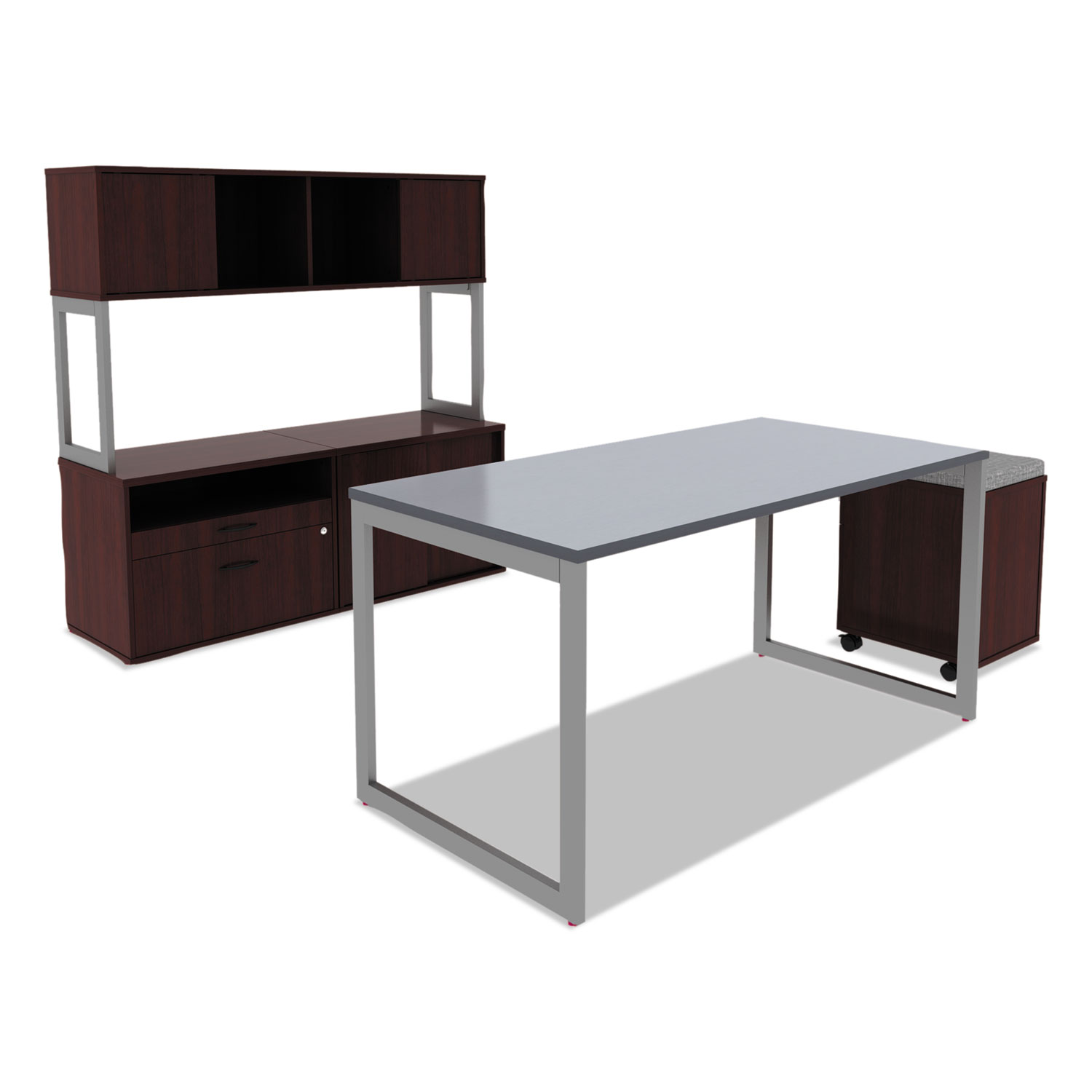 Alera Open Office Series Low File Cab Cred 29 1 2 X 19 8 22 7 Mahogany