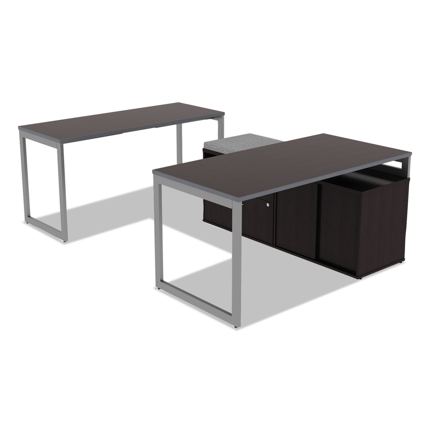 Alera Open fice Desk Series Adjustable O Leg Desk Base by Alera