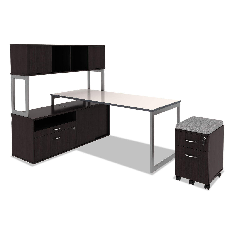 Alera Open Office Desk Series Hutch, 60w X 15d X 36 1/2h, Espresso