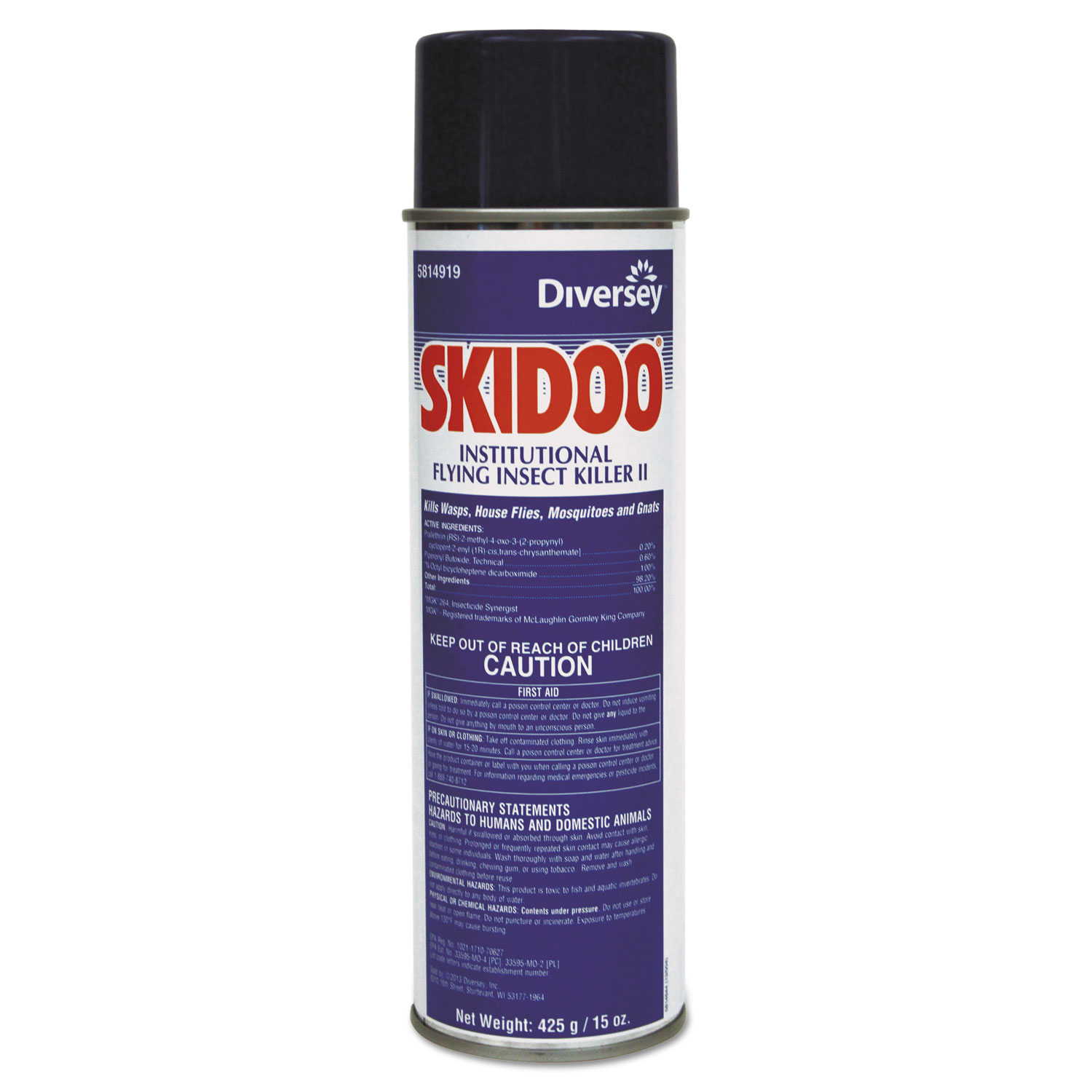 Skidoo Institutional Flying Insect Killer, 15 oz Aerosol, 6