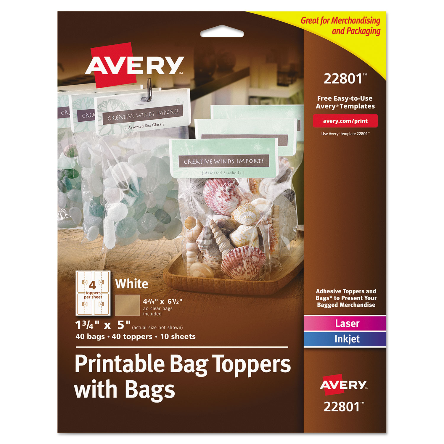 printable bag toppers with bags by avery ave22801 ontimesupplies com