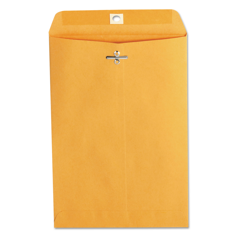 Kraft Clasp Envelope, #63, Square Flap, Clasp/Gummed Closure, 6.5 x 9.5, Brown Kraft, 100/Box