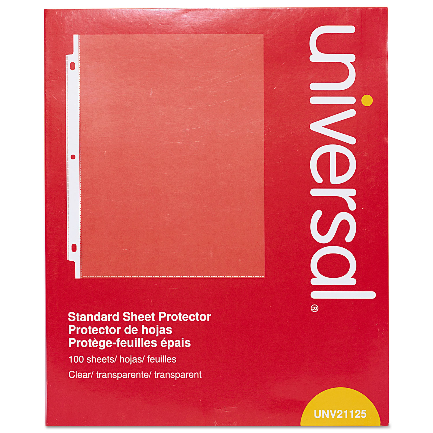 Top-Load Poly Sheet Protectors by Universal® UNV21125 ...