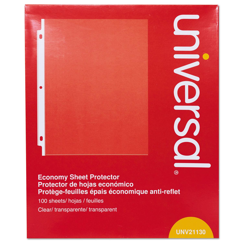 Buy clear sheet protectors bulk discounts on all sizes styles universal standard sheet protector thumbnail colourmoves