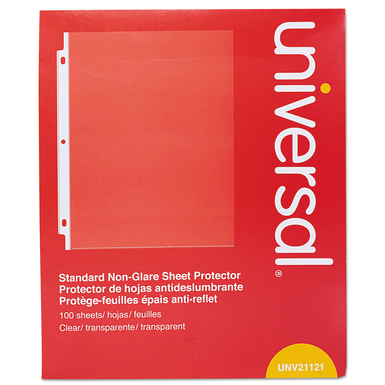 Standard Sheet Protector, Standard, 8 1/2 x 11, Clear, Non-Glare, 100/Box