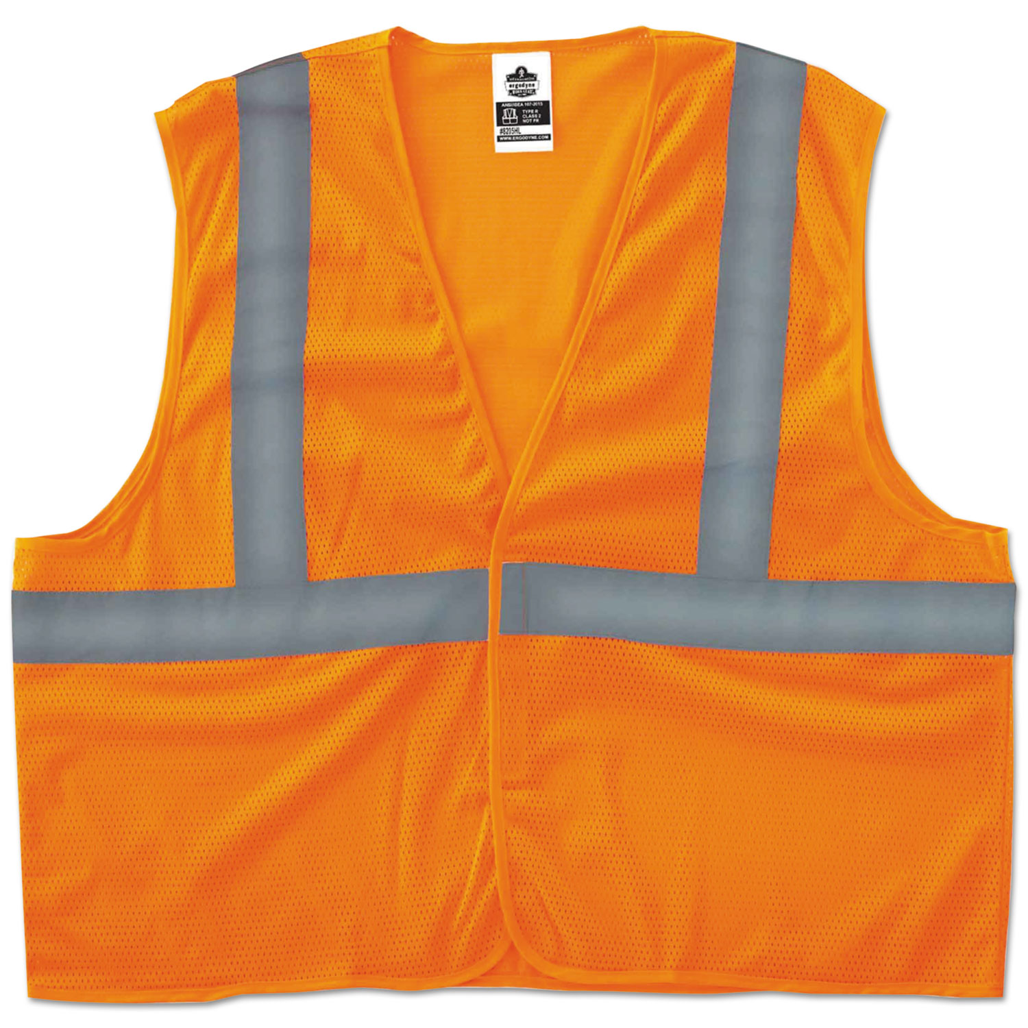 GloWear 8205HL Type R Class 2 Super Econo Mesh Vest, Orange, 4XL/5XL