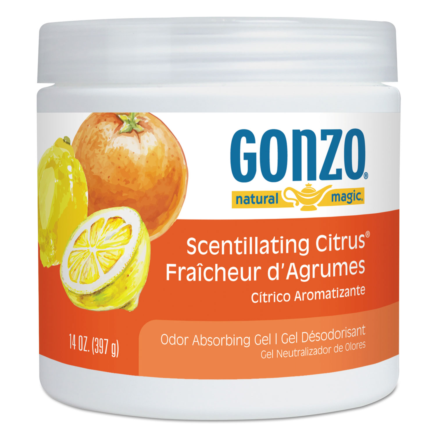 Odor Absorbing Gel, Scentillating Citrus, 14 oz Jar
