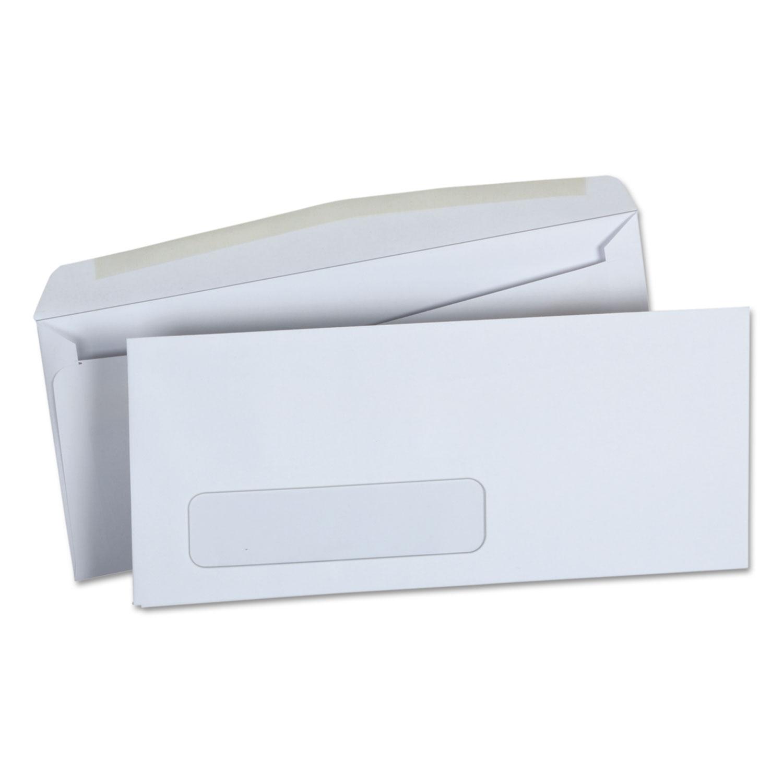 Business Envelope, #10, Monarc Flap, Gummed Closure, 4.13 x 9.5, White, 500/Box