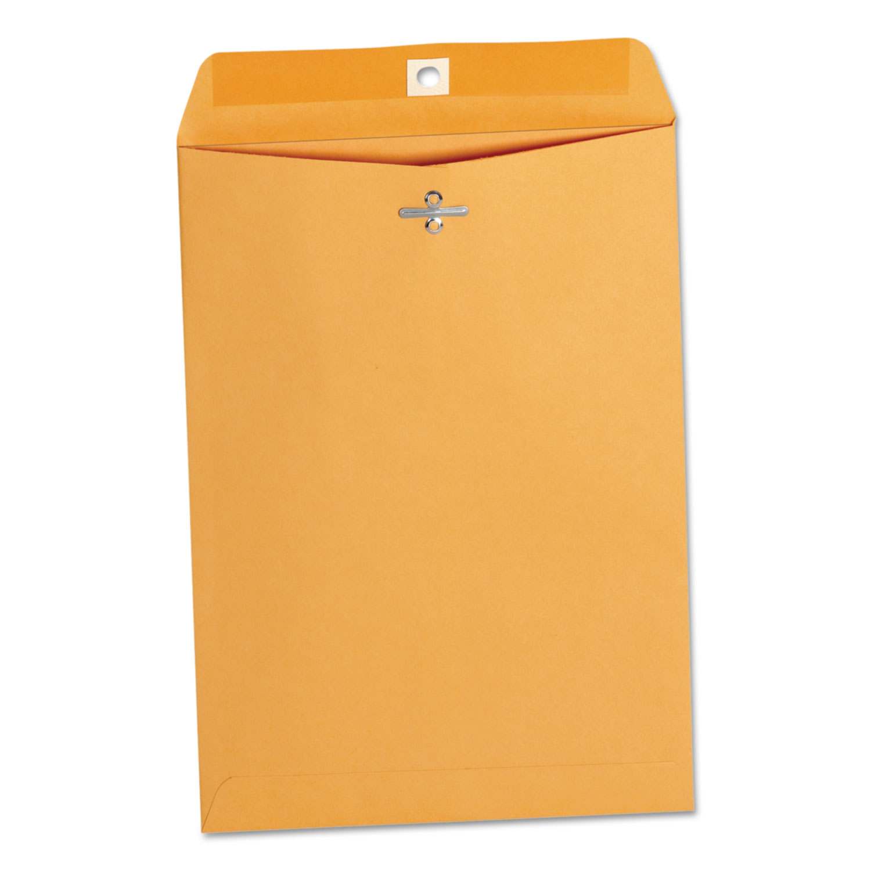 Kraft Clasp Envelope, #75, Square Flap, Clasp/Gummed Closure, 7.5 x 10.5, Brown Kraft, 100/Box