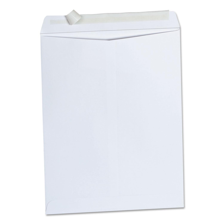 Peel Seal Strip Catalog Envelope, #13 1/2, Squar Flap, Self-Adhesive Closure, 10 x 13, White, 100/Box