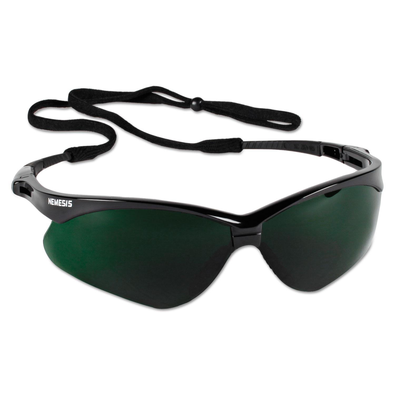 V30 Nemesis Safety Eyewear, Black Frame/IRUV 5 Lens, Nylon/Polycarb
