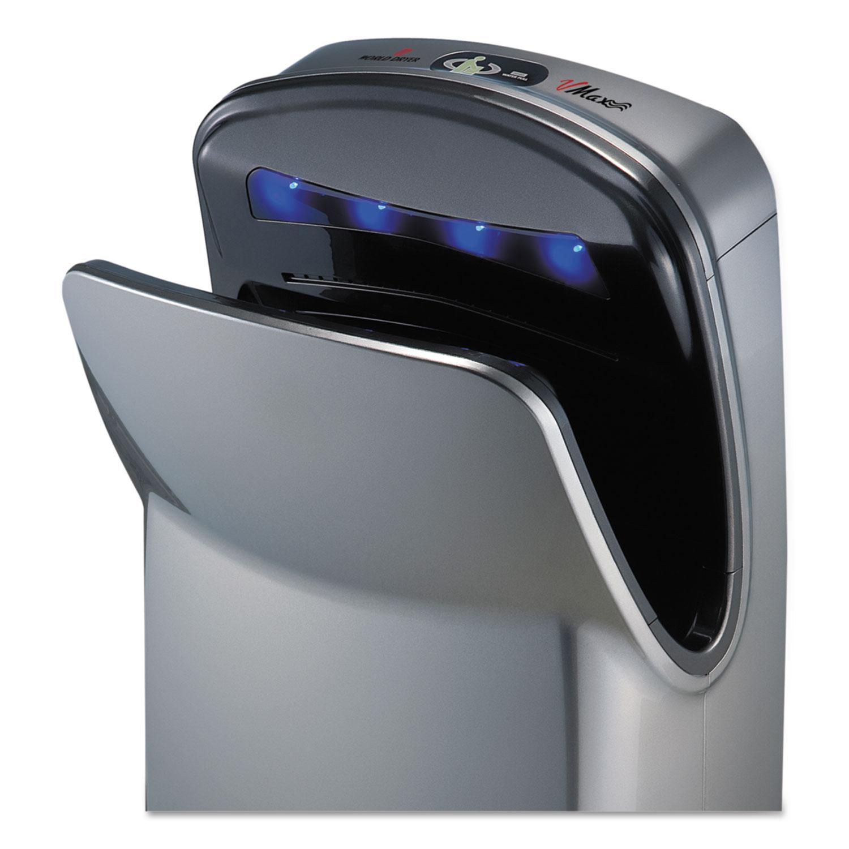 VMax Hand Dryer, High Impact ABS, 26 1/4 x 9 1/4 x 16, Silver