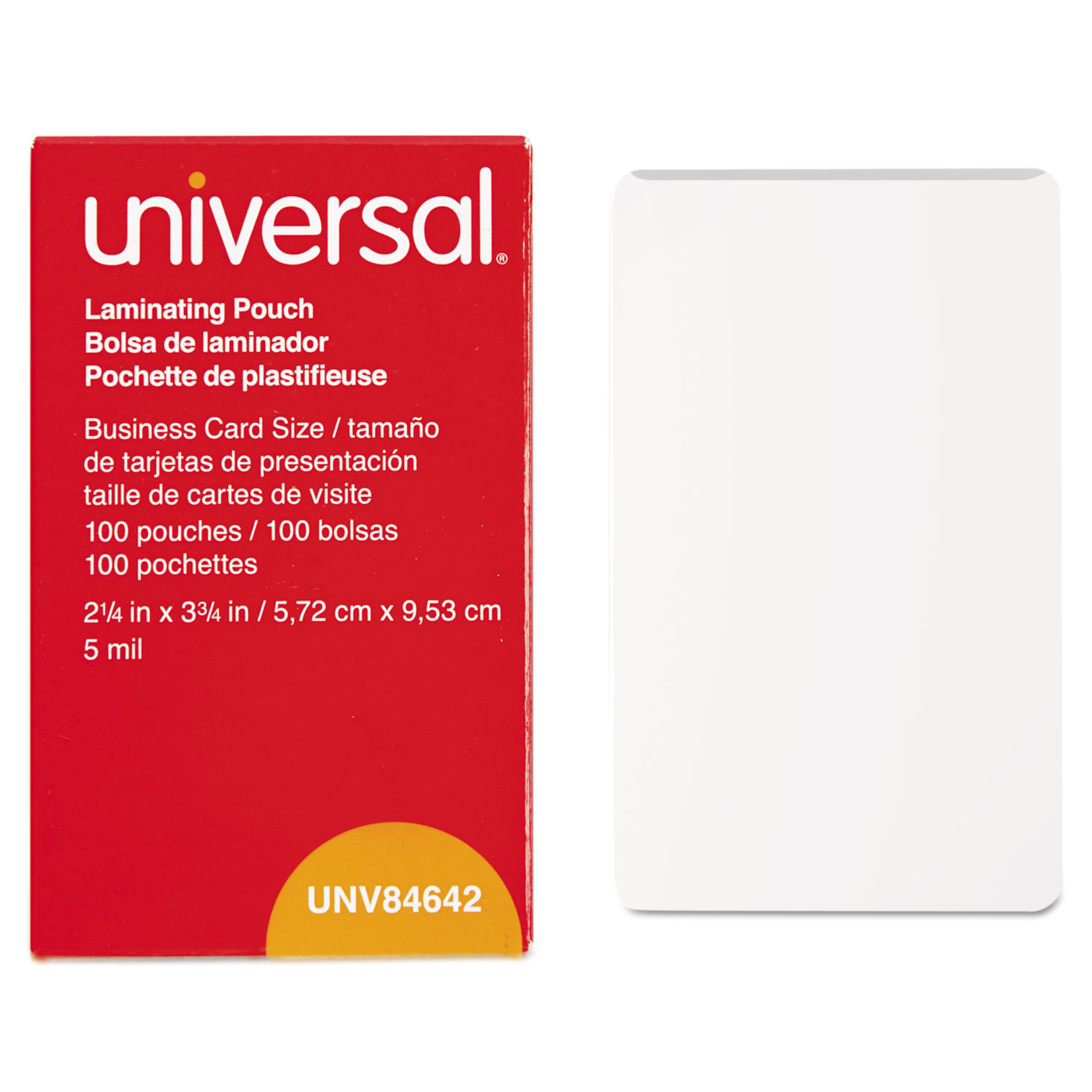 Clear Laminating Pouches by Universal® UNV84642 - OnTimeSupplies.com
