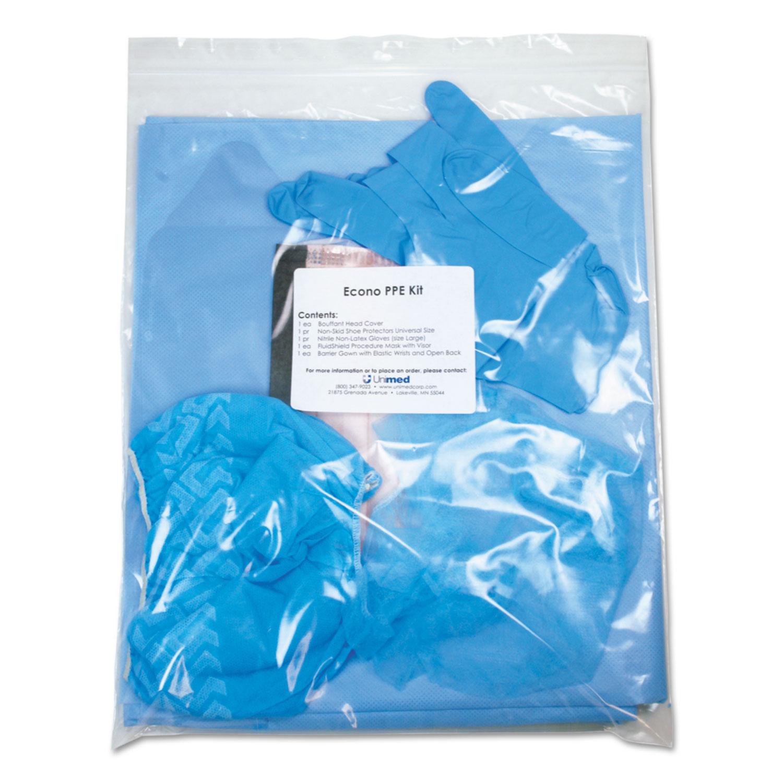 Econo PPE Kit, 7 Pieces, 9 x 12