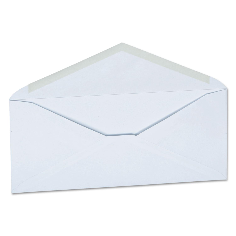 Business Envelope, #10, Monarch Flap, Gummed Closure, 4.13 x 9.5, White, 250/Carton