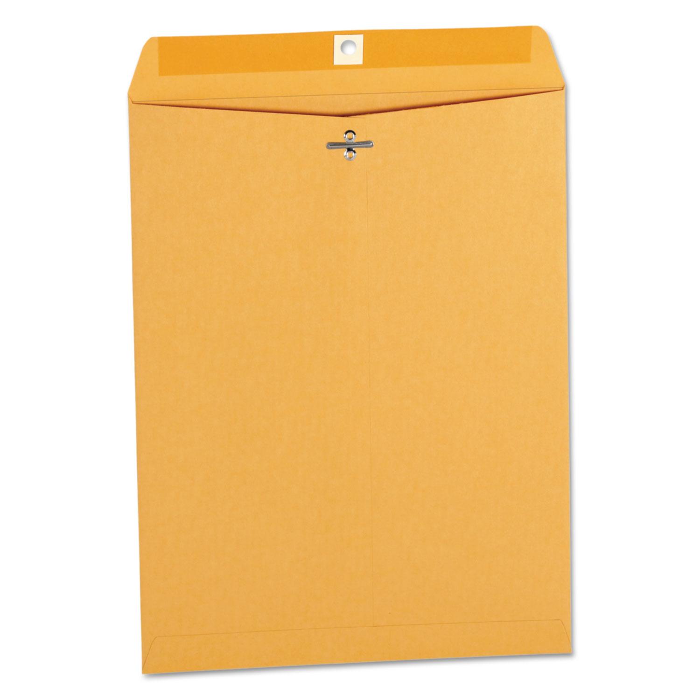 Kraft Clasp Envelope, Center Seam, 32lb, 9 1/2 X 12 1/2, Brown Kraft, 100/Box