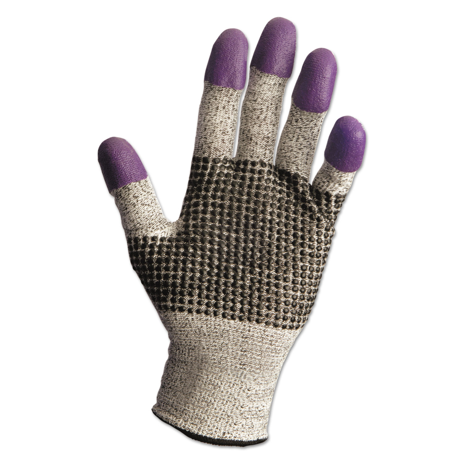 G60 Purple Nitrile Gloves, 240mm Length, Large/Size 9, Black/White, 12 Pair/CT
