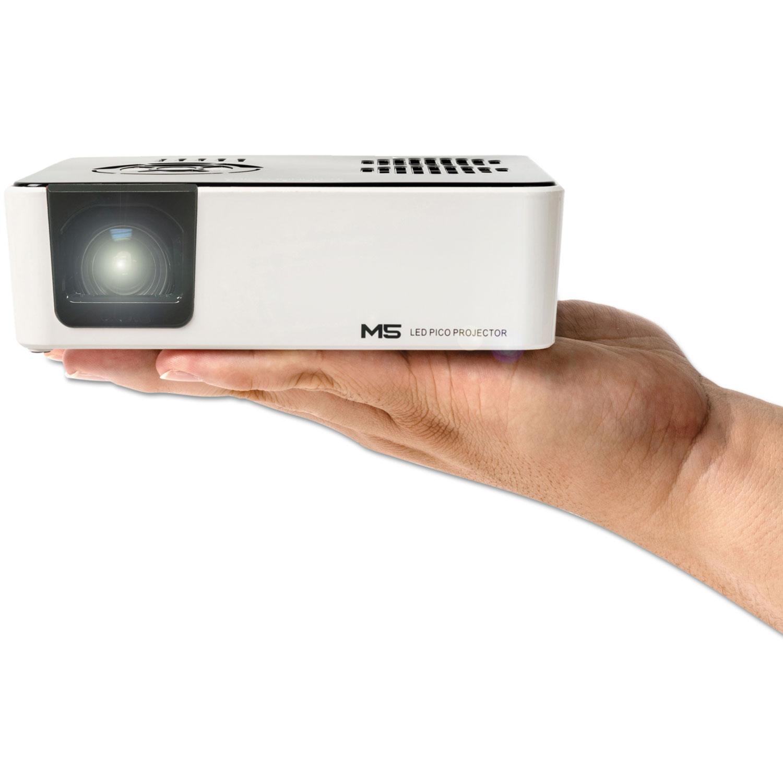 M5 HD LED Micro Projector, 900 Lumens, 1280 x 800 Pixels