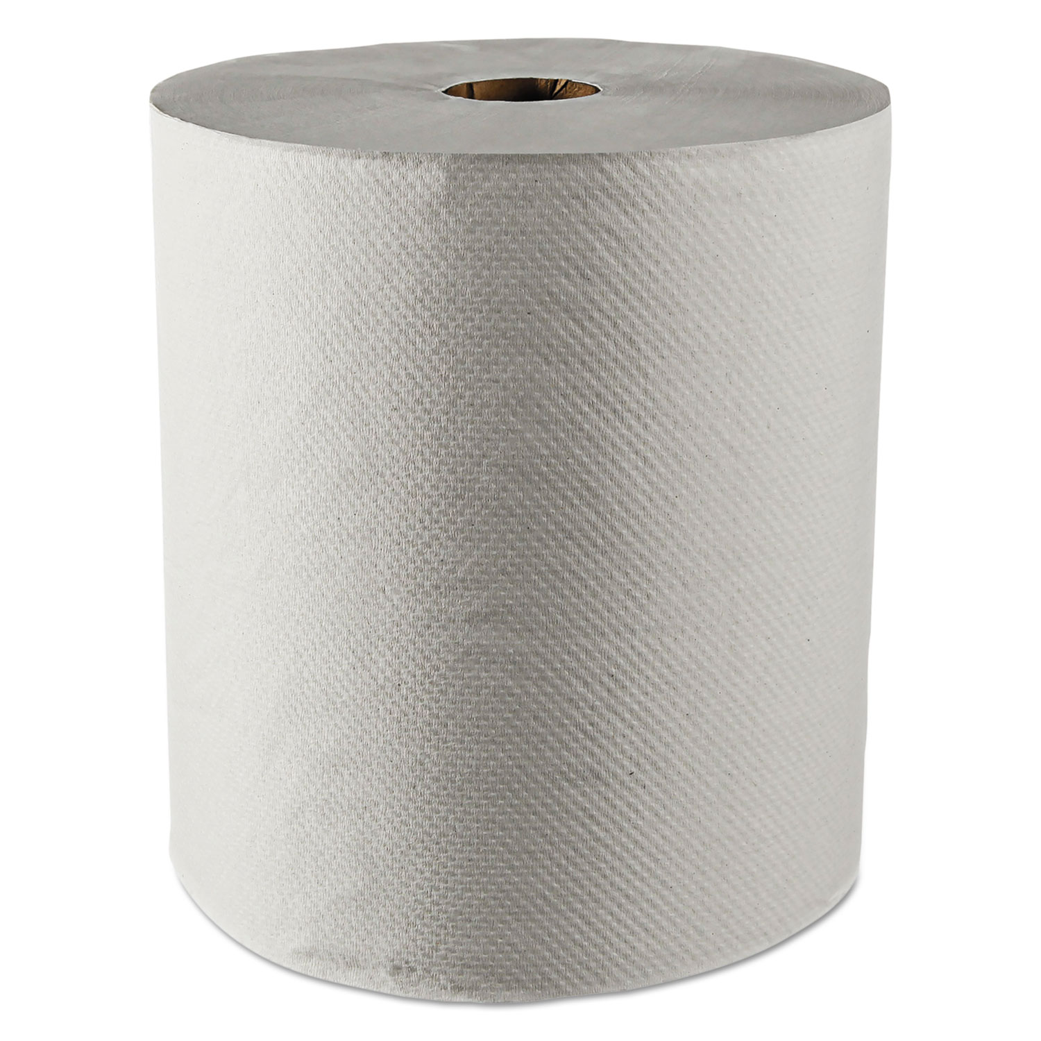 """Essential 100% Recycled Fiber Hard Roll Towel, 1.5"""" Core,White,8"""" x 800ft, 12/CT"""
