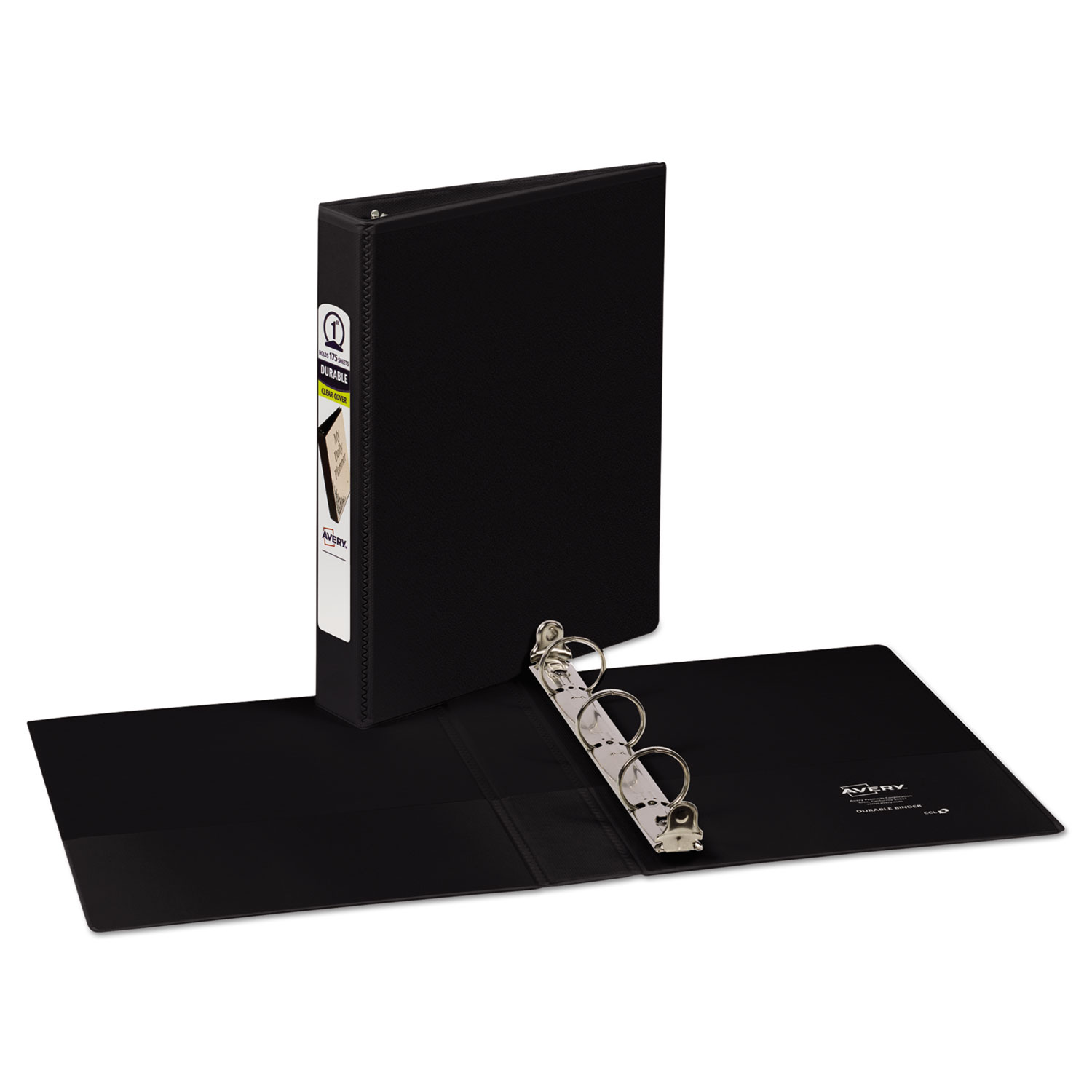 Mini Size Durable View Binder W/Round Rings By Avery