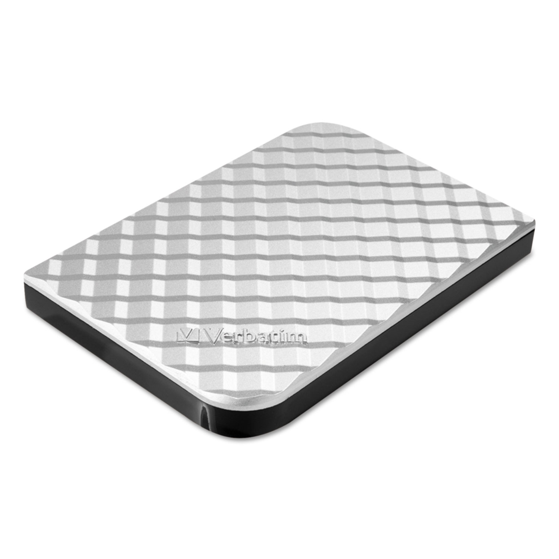 Store N Go Portable Hard Drive, USB 3.0, 1 TB, Diamond Silver
