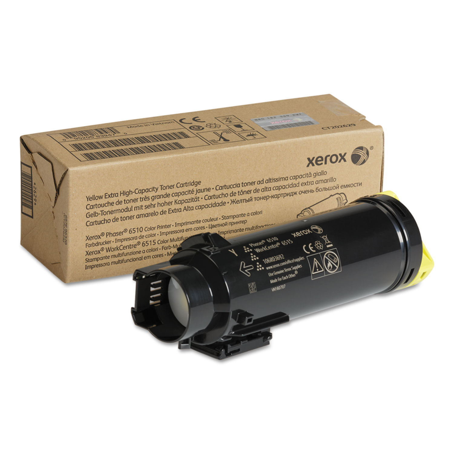 106R03692 Extra High-Yield Toner, 4300 Page-Yield, Yellow
