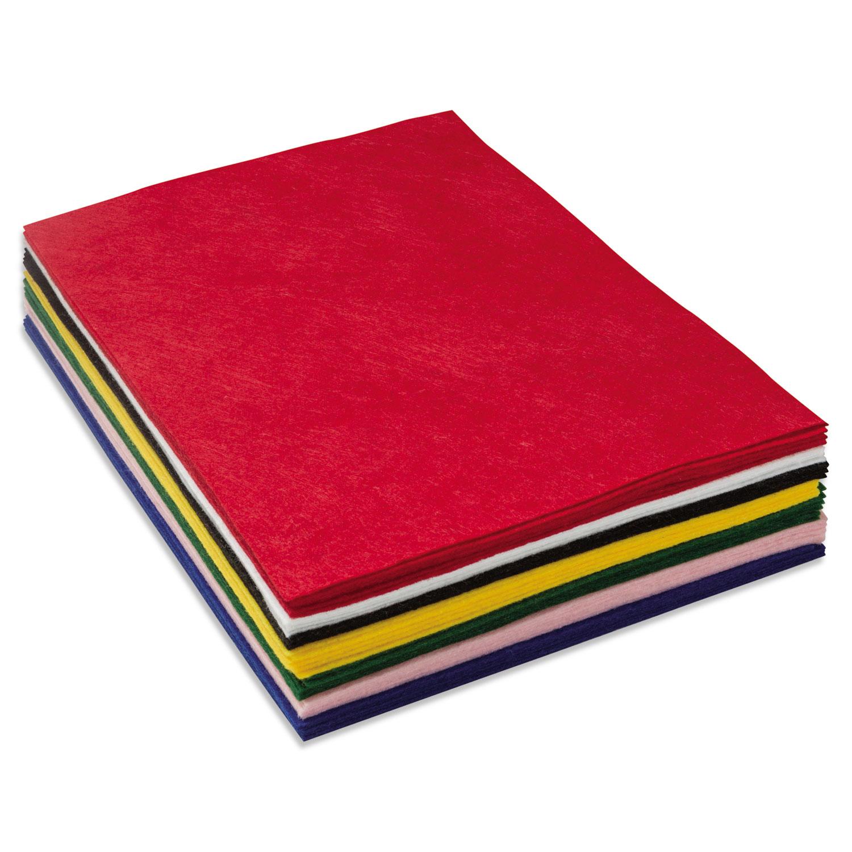 One Pound Felt Sheet Pack, Rectangular, 9 x 12, Assorted Colors
