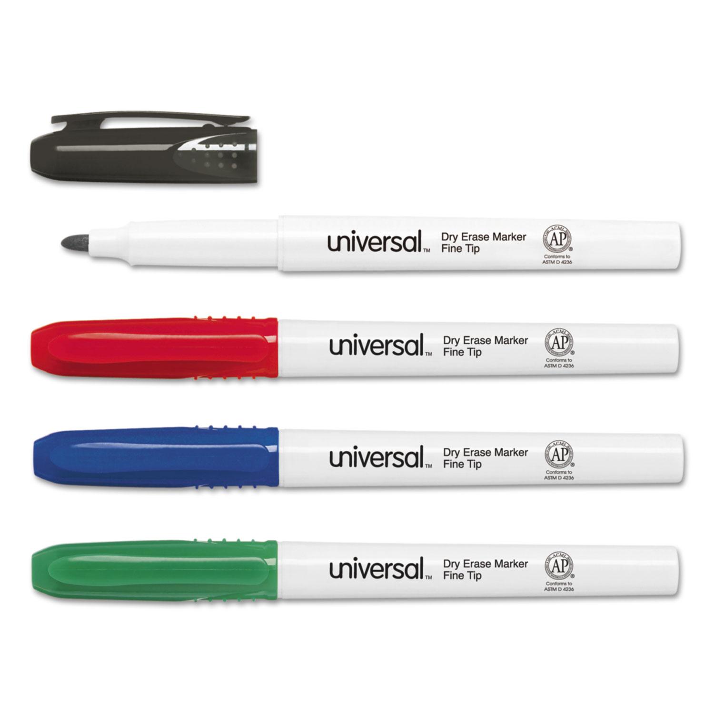 pen style dry erase markers finebullet tip assorted 4set