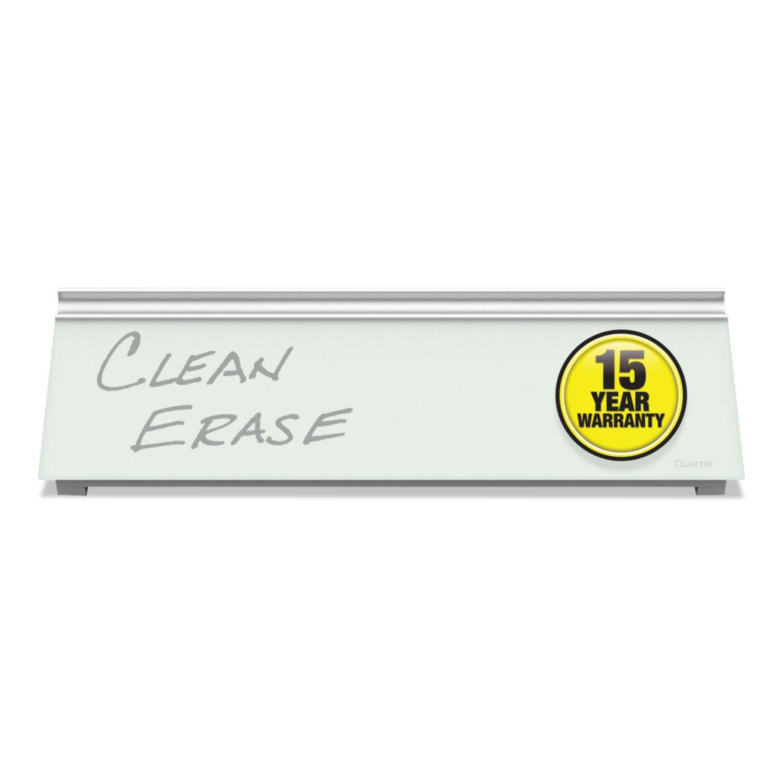 Glass Dry Erase Desktop Computer Pad, 18 x 6, White