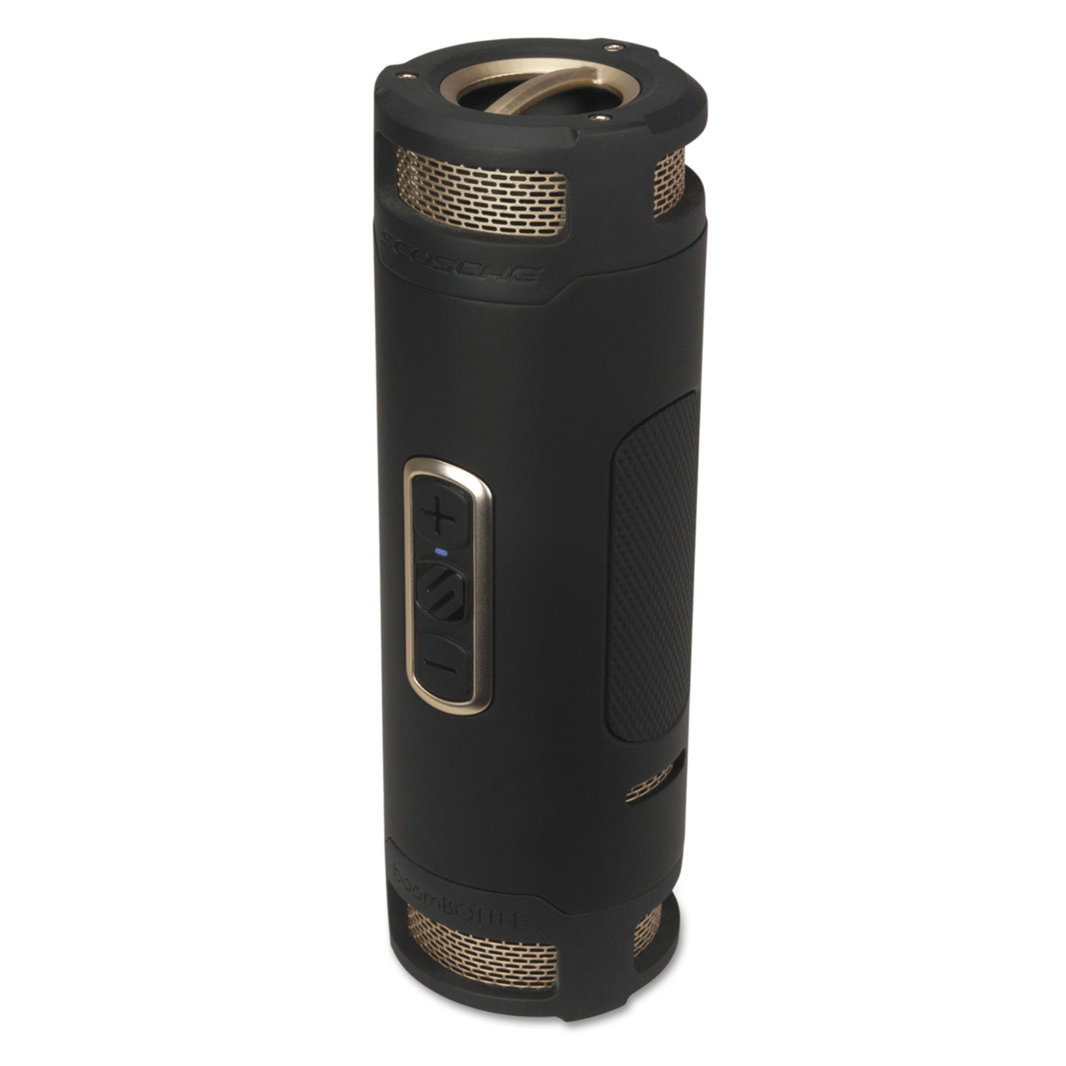 BoomBOTTLE+ Rugged Waterproof Wireless Portable Speaker, Black/Gold