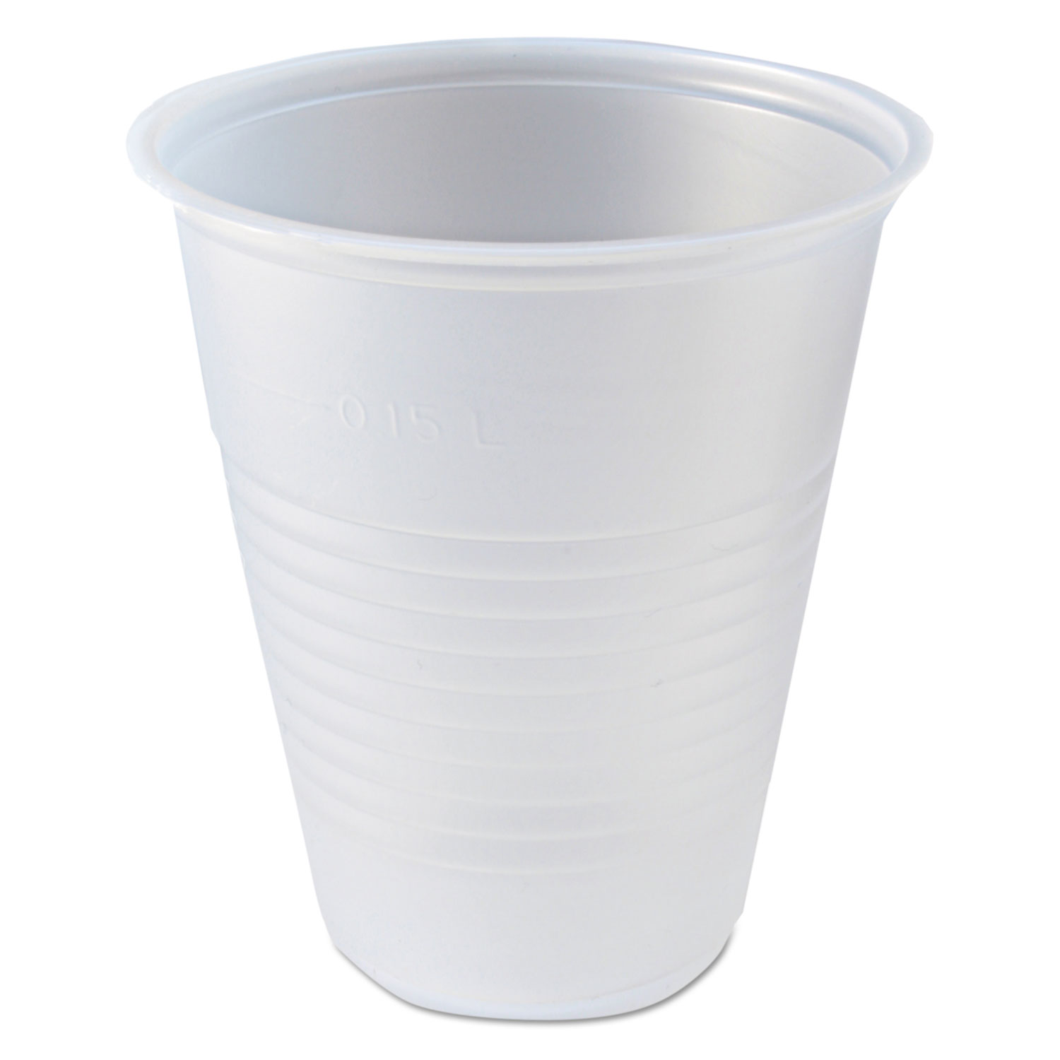 RK Ribbed Cold Drink Cups, 7 Oz, Clear