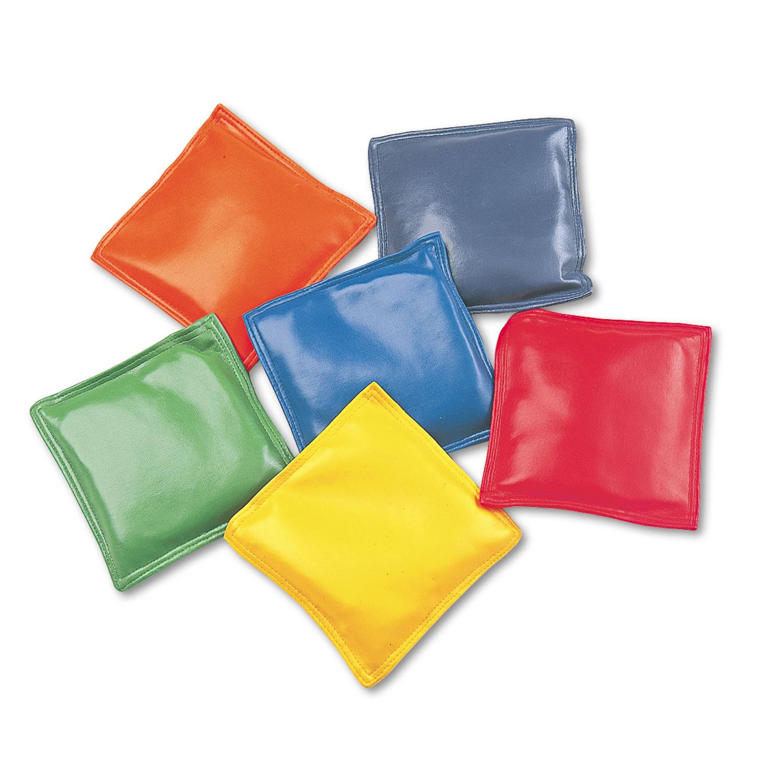 "Bean Bag Set, Vinyl, 4"", Assorted Colors, Dozen"