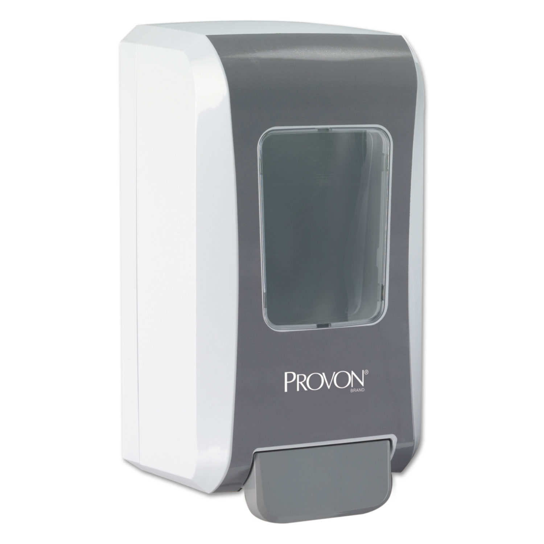 "FMX-20 Soap Dispenser, 2000 mL, 6.5"" x 4.7"" x 11.7"", Gray/White, 6/Carton"
