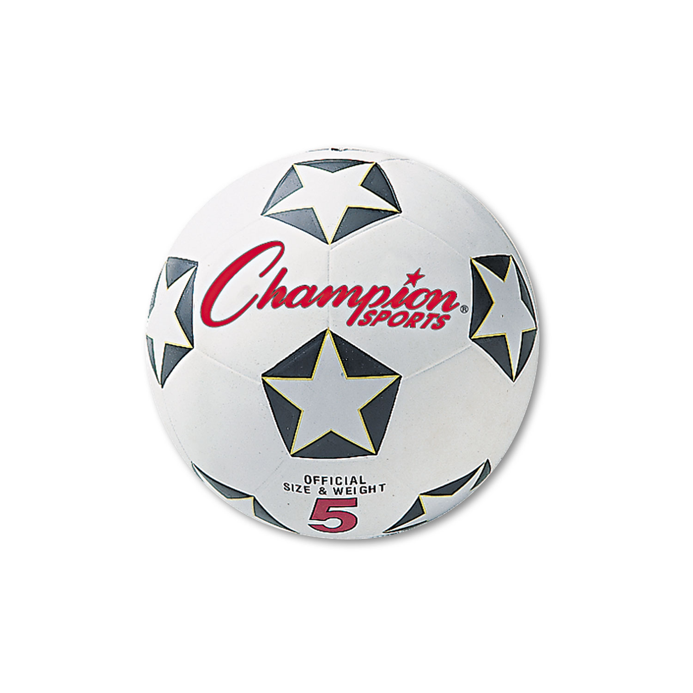 Rubber Sports Ball, For Soccer, No. 4, White/Black