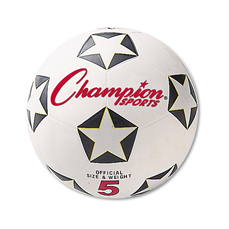 Rubber Sports Ball, For Soccer, No. 5, White/Black